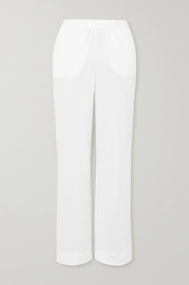 Skin Adrielle Brushed-cotton Pajama Pants - White