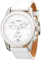 Victorinox Men's Stainless Steel Leather-Strap Watch