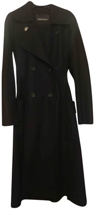 Ermanno Scervino Black Wool Coat for Women