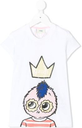 Fendi Queen elongated T-shirt