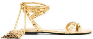 Valentino Rockstud tasseled sandals