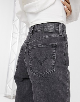 Levi's high waisted taper jean in washed black