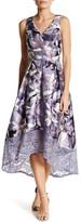 Sangria Floral Pleated Dress (Petite)