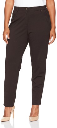 Ruby Rd. Women's Plus Size Fly Front Stretch Ponte Legging Pant