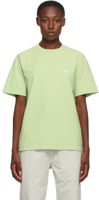 Stussy Green Stock Logo T-Shirt