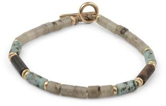 M. Cohen Grey And Turquoise Brace Bracelet