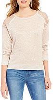 Living Doll Sequin Shoulder Sweater