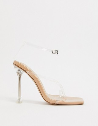 Simmi Shoes Simmi London Marvis heeled sandals in clear