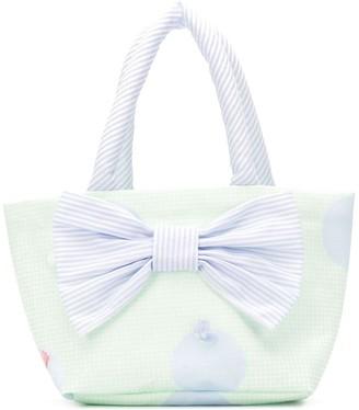 Lapin House Gingham Stripe Print Shoulder Bag