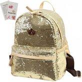 Donalworld Woen Sequin Backpack Bling Paillette Glitter School Shoulder Handbags