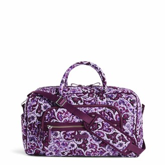 Vera Bradley Women's Iconic Compact Weekender Travel Bag-Signature Totes Luggage