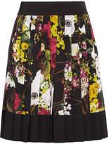 Dolce & Gabbana Fiori Pleated Floral-print Silk-blend Crepe De Chine Mini Skirt
