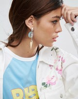 Asos Occasion Sequin Jewel Strand Earrings