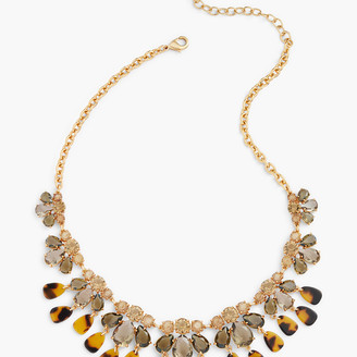 Talbots Tortoise & Crystal Statement Necklace