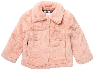 Urban Republic Short Faux Fur Coat (Little Girls)