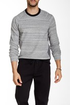 Kenneth Cole New York Bonded Heathered Crew Neck Sweatshirt