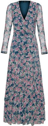 AFRM Romano Print Long Sleeve Wrap Dress
