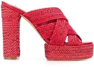 Casadei Woven Strappy Sandals
