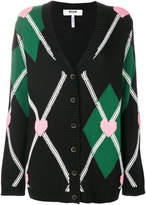 MSGM V-neck heart cardigan