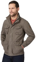 Mantaray Big And Tall Light Brown Funnel Neck Jacket