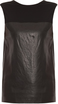 Alexander Wang Jersey And Leather Top
