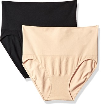 Motherhood Maternity Women's 2 Pack Postpartum Seamless Support Panty Black/Nude Large/Extra Large