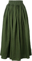 Aspesi elasticated waistband midi skirt - women - Linen/Flax - 42