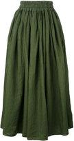 Aspesi elasticated waistband midi skirt