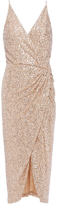 Jonathan Simkhai Draped Sequin-embellished Mesh Mini Dress