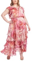 Rachel Roy Plus Size Tie-Dyed Maxi Dress