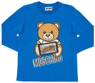 Moschino Toy Bear Print Cotton Jersey T-shirt