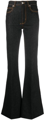 Alexander McQueen High-Waisted Flared Jeans