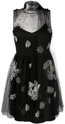 RED Valentino Floral Applique Dress