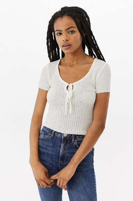 Urban Outfitters Gauze Scoop Neck Top