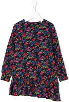 MSGM asymmetric floral print dress