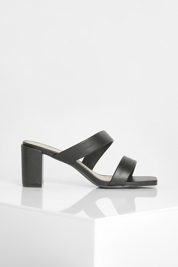 Thumbnail for your product : boohoo Double Strap Block Heels