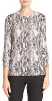 Equipment Women's Ondine Zip Shoulder Print Silk & Cashmere Sweater