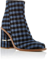 Tibi Nora Gingham Ankle Boots