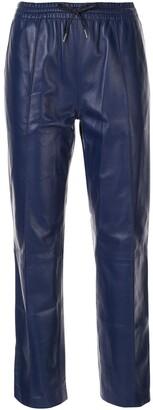 Joseph leather track pants