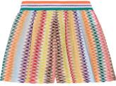 Missoni Mare Rhombus Metallic Crochet-knit Shorts - Orange