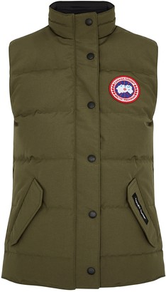 Canada Goose Freestyle Army Green Quilted Shell Gilet