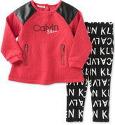 Calvin Klein 2-Pc. Tunic & Logo-Print Leggings Set, Baby Girls (0-24 months)