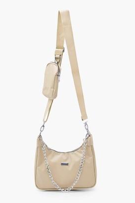 boohoo Nylon Multi Way Cross Body With Mini Bag