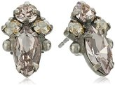 "Sorrelli Sand Dune"" Petite Navette Cluster Stud Earrings"