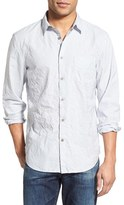 John Varvatos Men's Slim Fit Stripe Sport Shirt