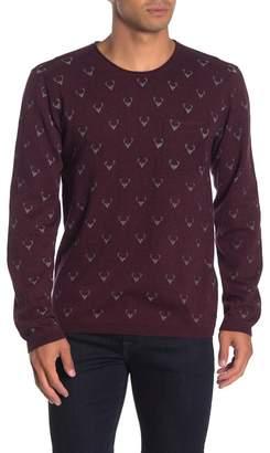 Heritage Deer Print Patch Pocket Sweater