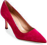 Manolo Blahnik Pink BB 30 Suede Pointed Toe Pumps