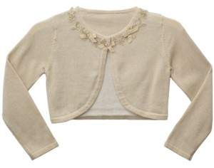 Bonnie Jean Big Girl Long Sleeve Cardigan