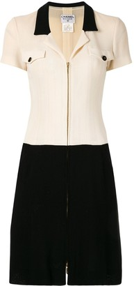 Chanel Pre Owned Zip-Front Dress