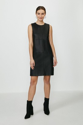 Coast Leather And Ponte Shift Dress